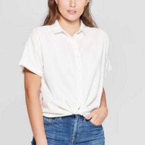 Women's Short Sleeve Camp Shirt - Universal Thread